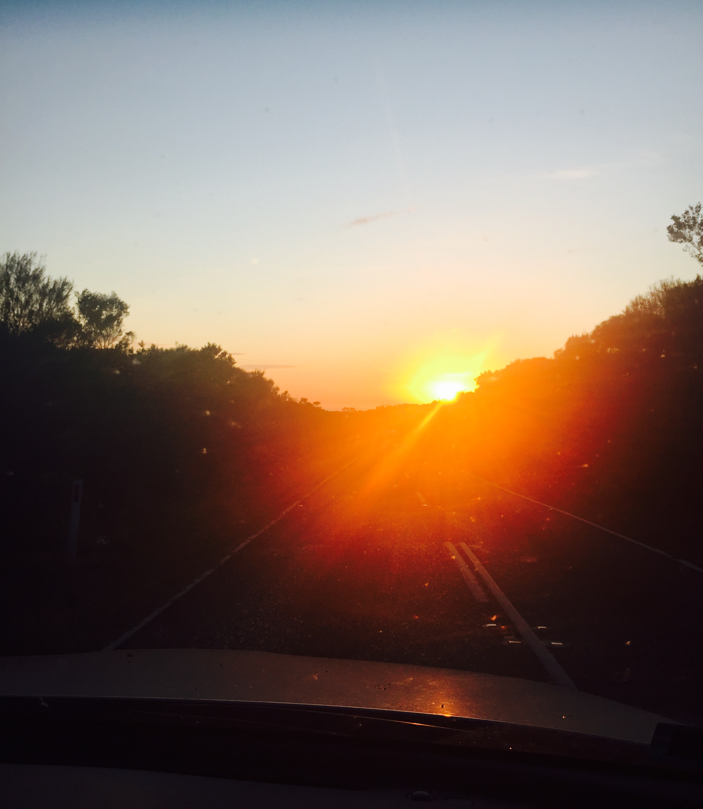 Sunrise from the car