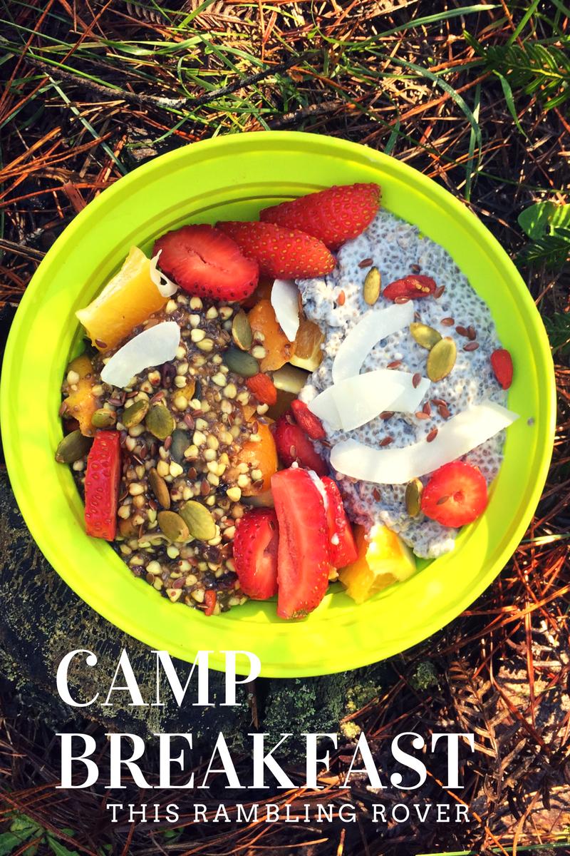 Camp Breakfast, Hike, Porridge