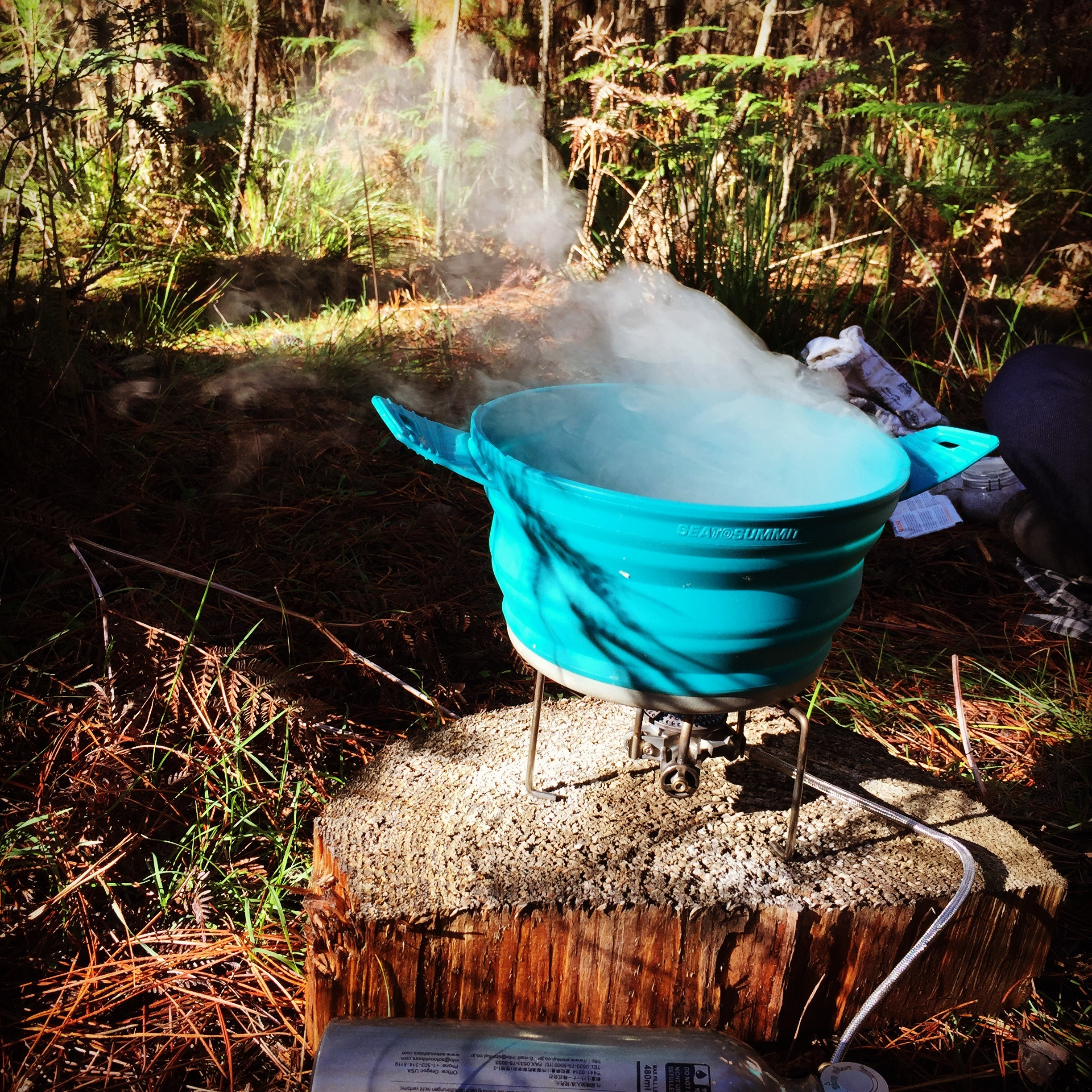 Hike stove, cooking