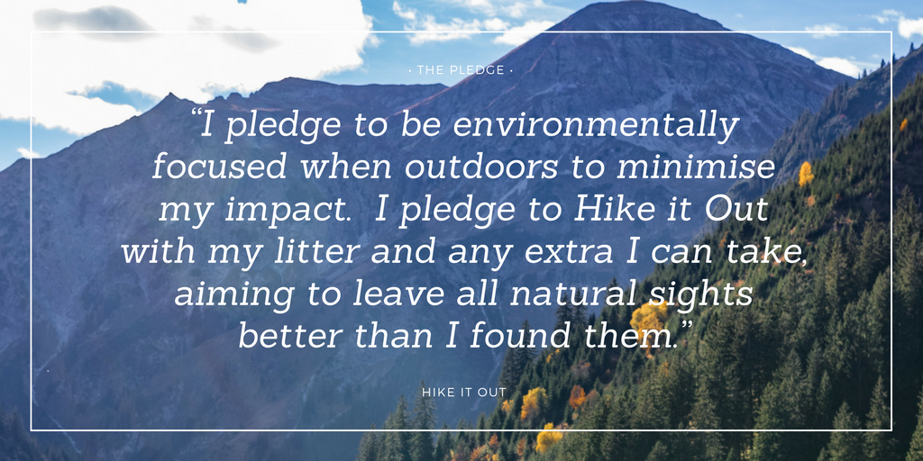 Hike it Out Pledge